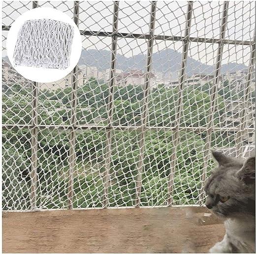 Balcón Gato Red de Seguridad Niños Malla Protectora Durable Red de Nylon Escalera Malla Resistente a la Rotura for Gatos y Aves Espesor de Cuerda 6mm / Malla 5cm ...
