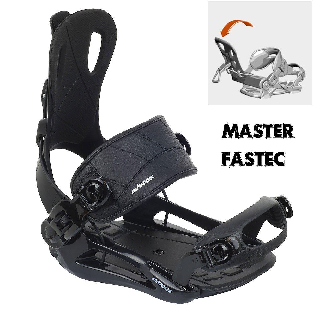 Fijaciones Snowboard Star o Master Fastec SB Bag//156/159/165/cm AIRTRACKS//Places Flat Rocker
