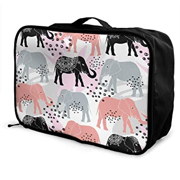 ee122edc995c Amazon.com | Elephants And Brush Strokes Pattern Travel Lightweight ...