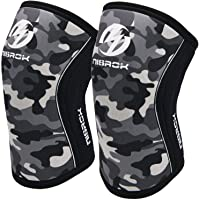 Knee Sleeves (1 Pair), 7mm Neoprene Compression Knee Braces, Great Support for Cross Training, Weightlifting…