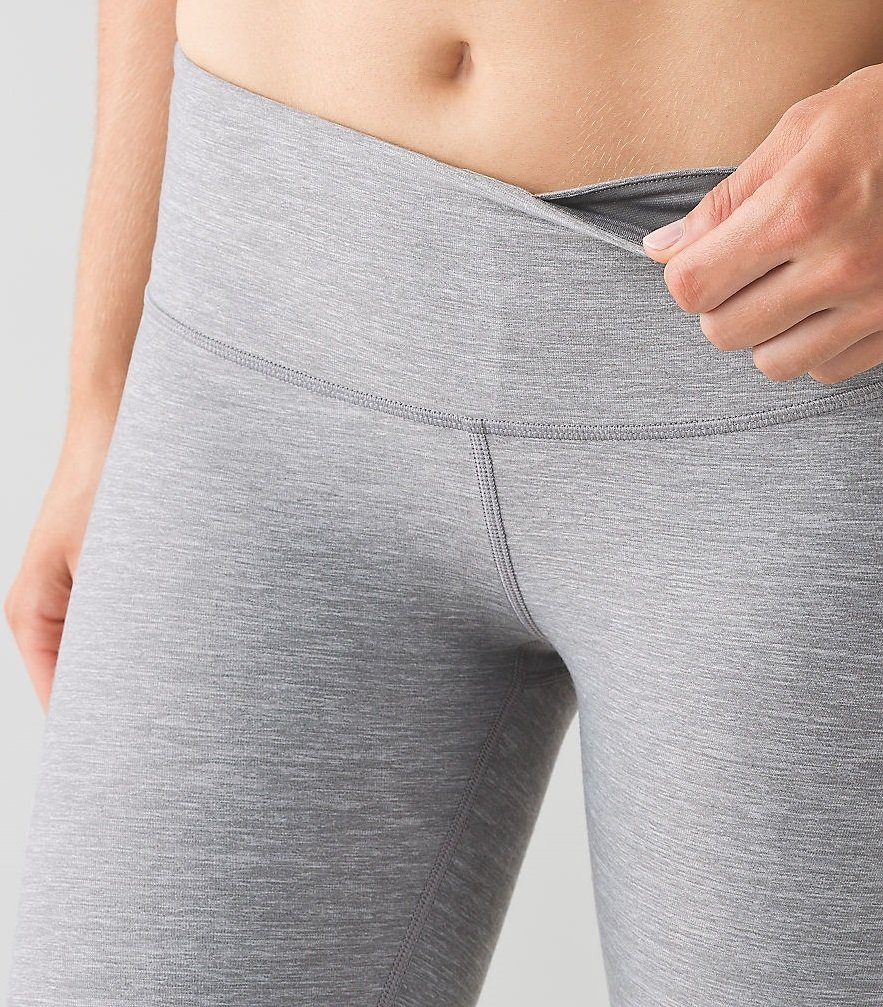 Lululemon Wunder Under Pant III Full On Luon Yoga Pants (Heathered Slate, 12) by Lululemon (Image #5)