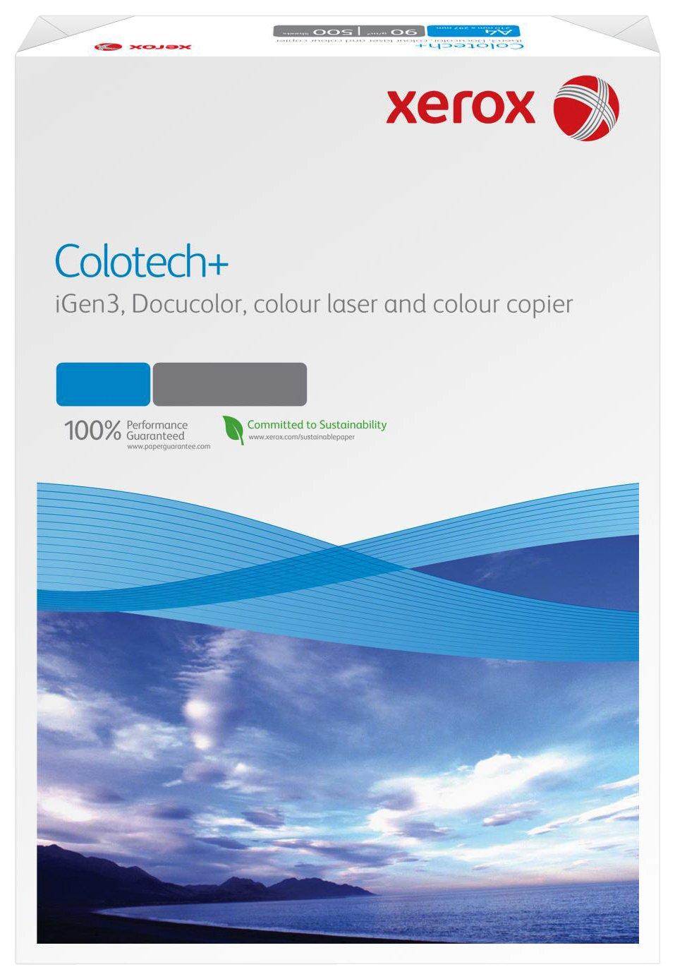 Xerox Colour Tech 003R95840 - Risma di carta per stampante laser/fotocopiatrice a colori, SRA3, 120 g/m², 250 fogli, colore bianco