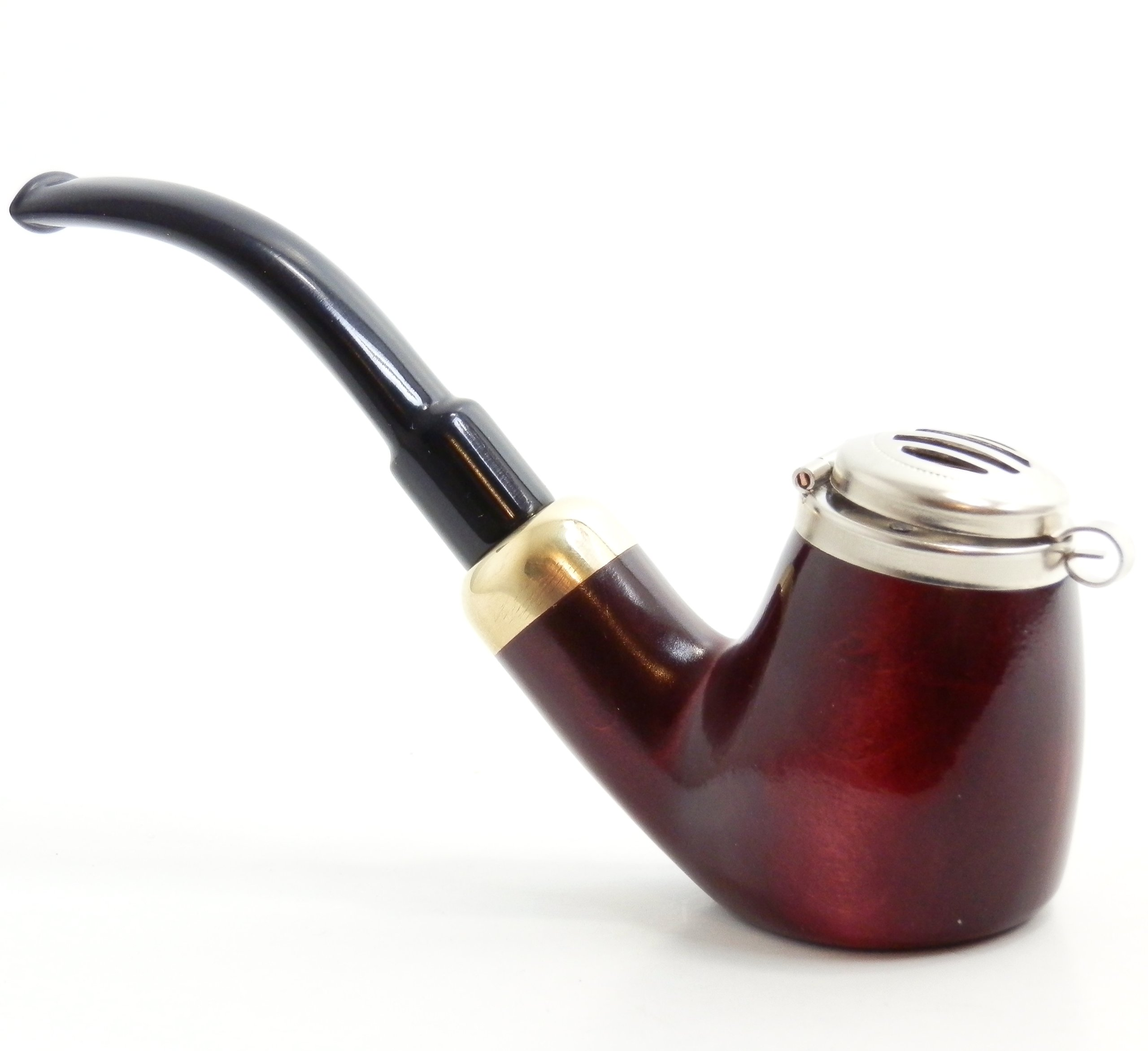 Mr. Brog Full Bent Smoking Tobacco Pipe - Model No 21 Old Army Mahogany  sc 1 st  Amazon.com & Amazon.com: Meerschaum Pipe - CALABASH - Sherlock Holmes Pipe - Hand ...