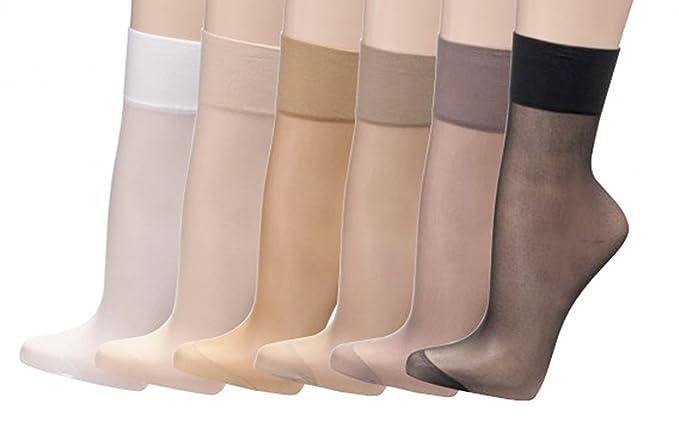 Juego de 10 pares de calcetines finos tipo media, 20 den=22 dtex,