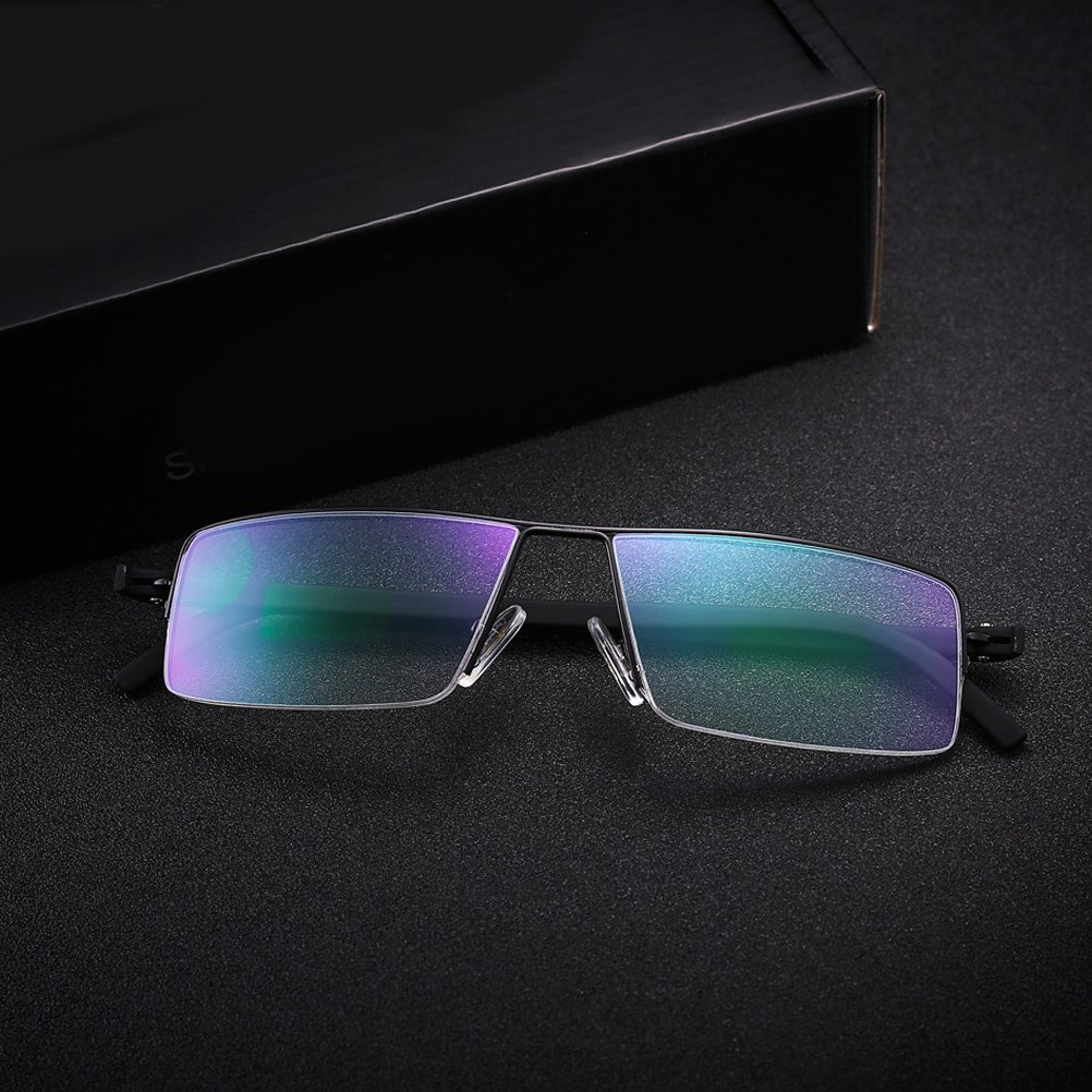 Zhhlinyuan Gafas Lectura Hombre Dise/ño Lightweight Readers 80s Reading Glasses Half-frame Style TR90 Eyeglasses for Men Crystal Clear Vision