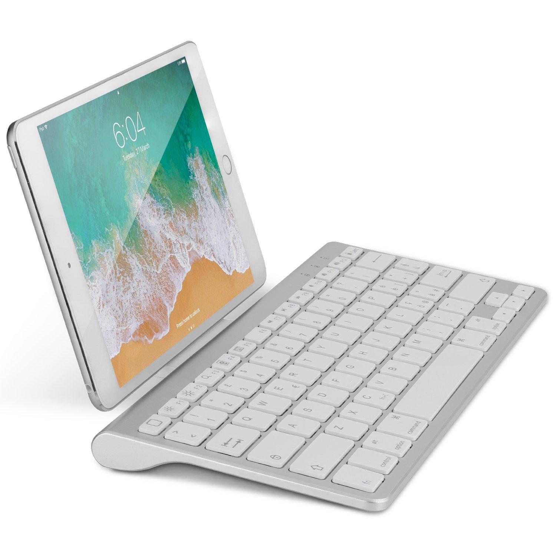 OMOTON Bluetooth Teclado Español con Soporte, Compatible con iPad 9.7, 10.5, iPad Air