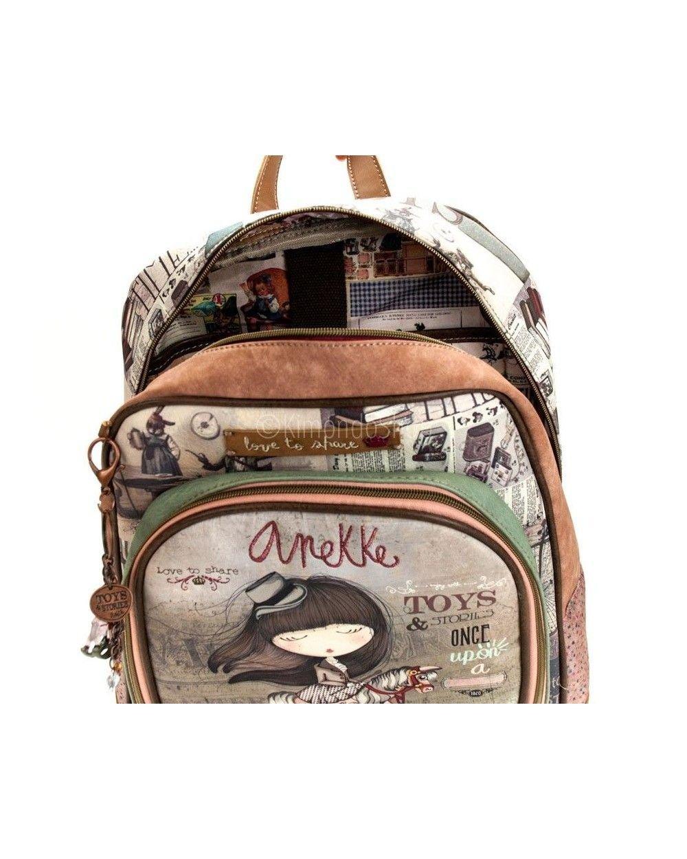 Mochila Escolar ANEKKE Stories, Grande 40 cm. Adaptable: Amazon.es: Equipaje