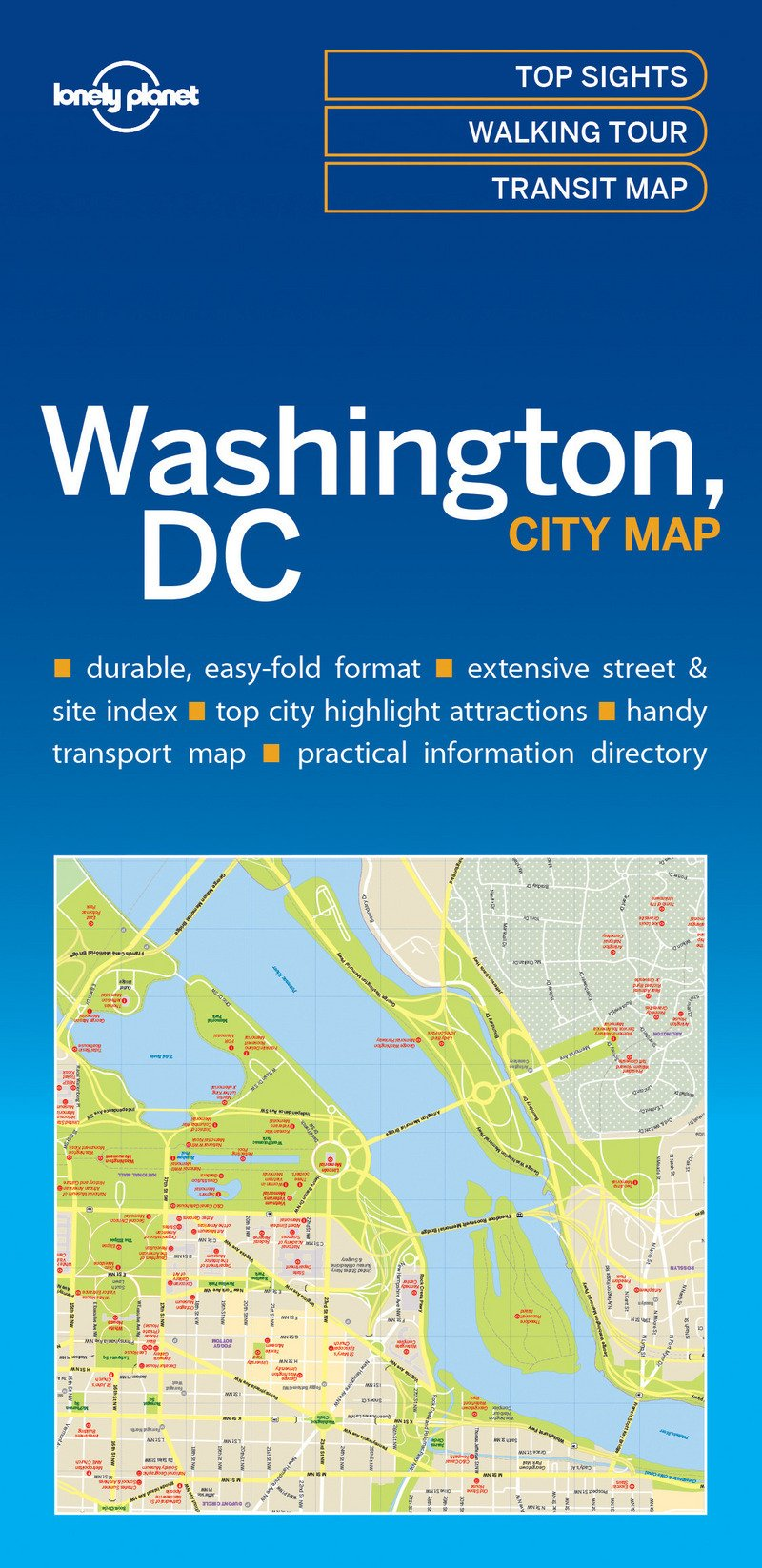 Lonely Planet Washington DC City Map Lonely Planet City Maps: Amazon ...