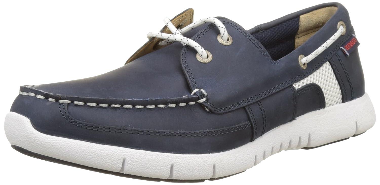 Sebago Herren Kinsley Two Eye Bootschuhe  40 EU Blau (Navy Leather)