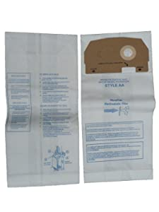 9 Eureka Victory and True Hepa Upright Style AA Microfiltration Vacuum Bags