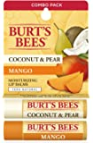 Burts Bees Coconut & Pear and Mango Lip Balm by Burts Bees for Unisex - 2 x 0.15 oz Lip Balm, 2 count