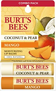 product image for Burt's Bees 100% Natural Moisturizing Lip Balm, Coconut & Pear and Mango with Beeswax & Fruit Extracts - 2 Tubes, 2 Fl OZ