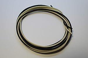 Gavitt Guitar Wire Cloth-covered Vintage-style Pushback - 22awg 7-strand Tinned - 20 feet (10 ft Black, 10 ft White)