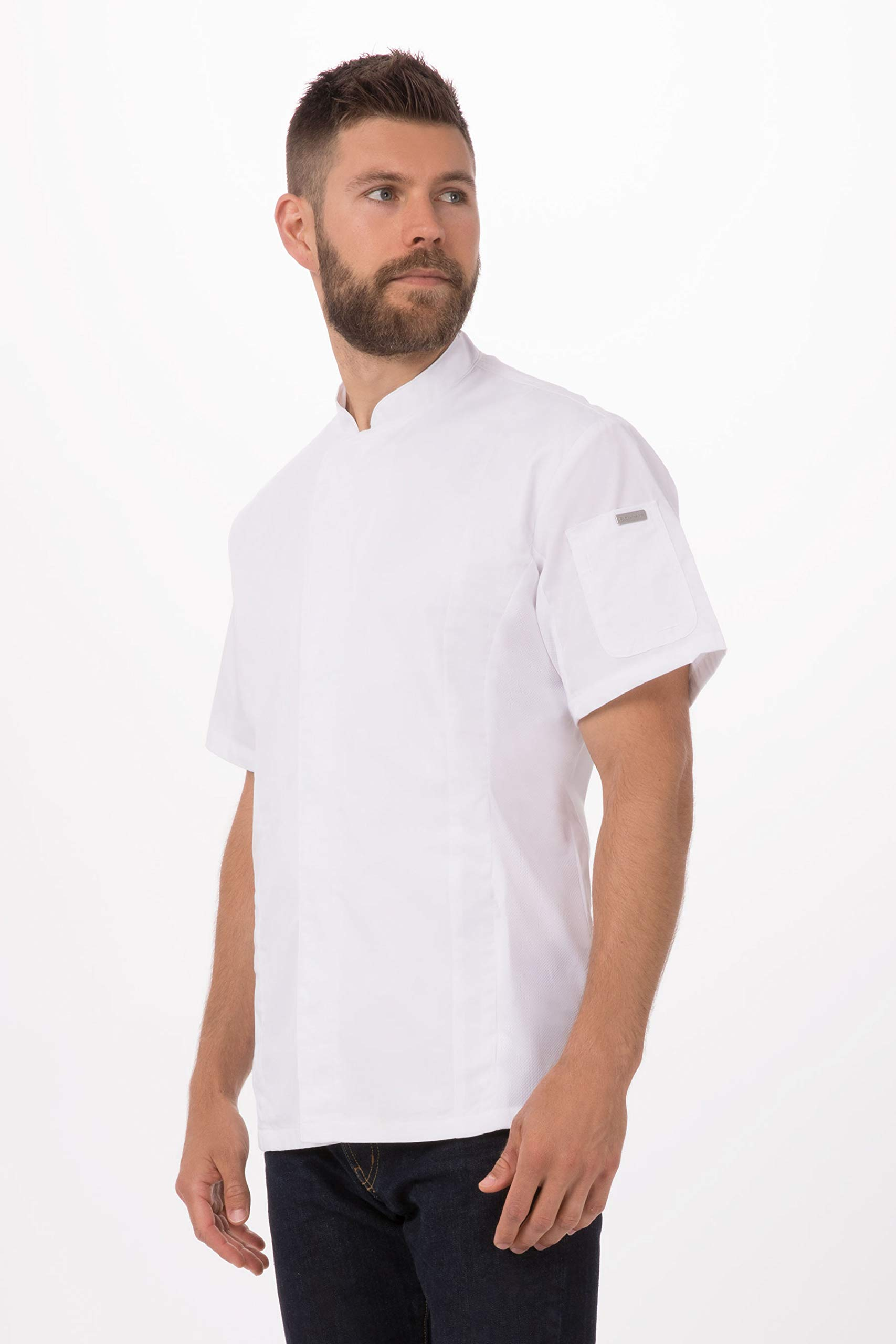 Chef Works Men's Bristol Signature Series Chef Coat, White, Large by Chef Works
