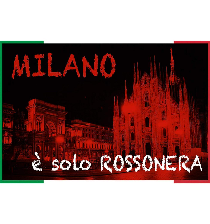 Milan in MICROSPUGNA Rosso Nero con Zaino Piscina e Cartolina Milano /è tex family Accappatoio Bambino Ragazzo Originale A.C 4-6 Anni