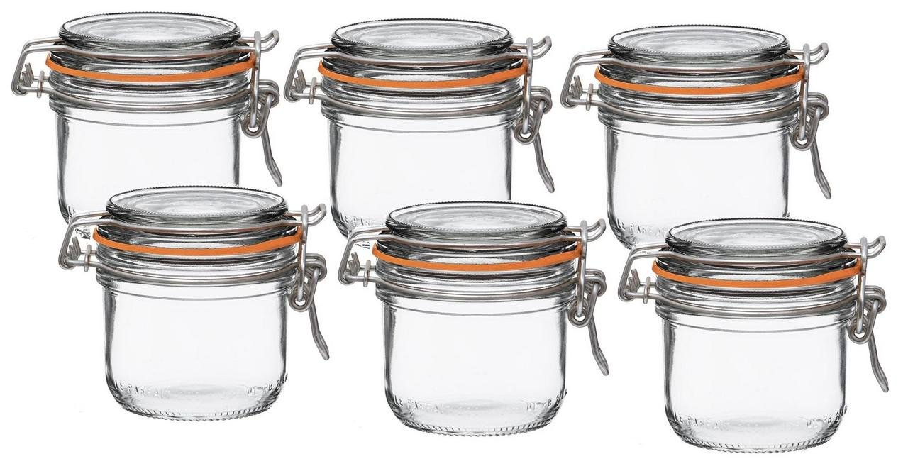 Le Parfait Super Terrines - Wide Mouth French Glass Preserving Jars - Consumer Packs (1, 200ml (Set of 6)) by Le Parfait