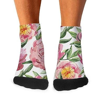 los angeles sale uk buy cheap Men's Moisture Crew Socks Beautiful watercolor pink peony ...