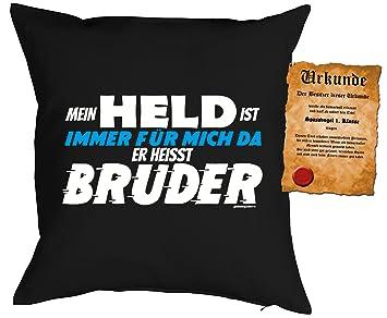 Familien Geschwister Deko Kissen Inkl Spass Urkunde Thema Lustige