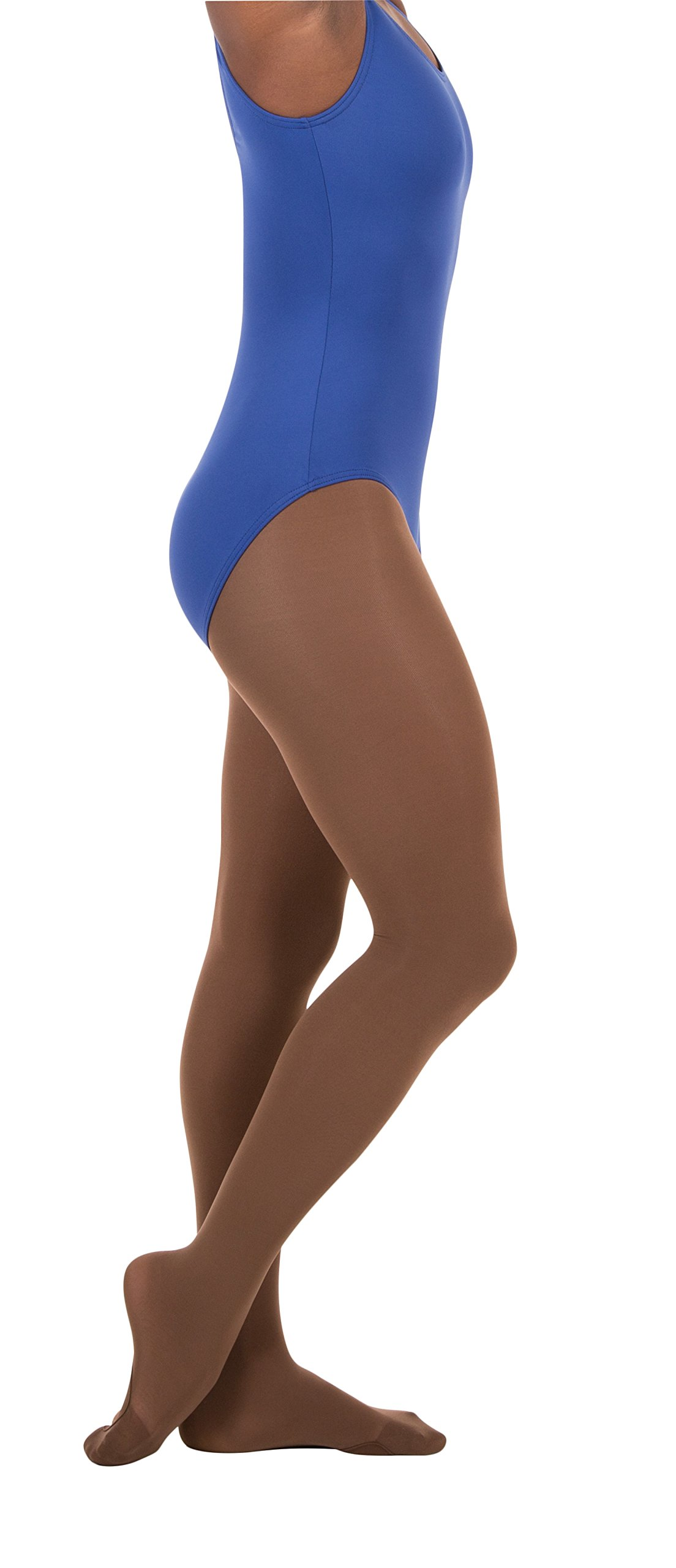 Body Wrappers Women's Total Strech Convertible Tights - A31, Mocha, Large/XL by Body Wrappers