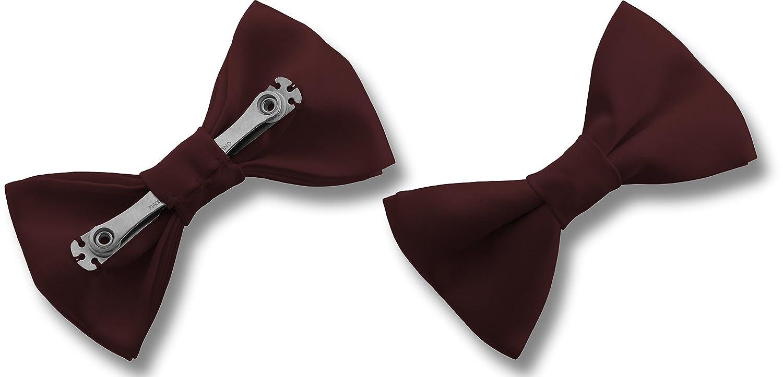 c52ef2cdb152 Men's Satin CLIP ON Bow Ties (Navy): Amazon.co.uk: Clothing