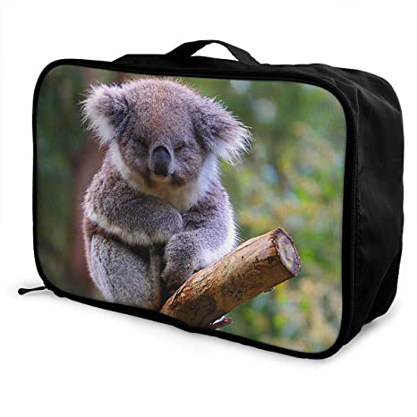 f65e877261f6 SJIEXZ Men Women Adorable Koala Nap Travel Duffel Bag Colorful Large  Capacity Gym Luggage Bag Storage