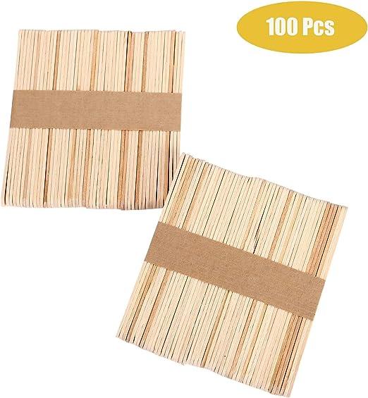 100 piezas palitos de madera manualidades, palitos de madera ...