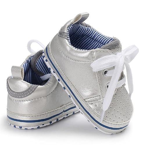 05a5ae54536d Auxma Chaussures de Bébé Chaussures Bébé sans Gants Pour Bébés Filles  Garçons Chaussons de Chaussure Pour Bébés infantiles Prewalker Pour 3-6  6-12 12-18 ...