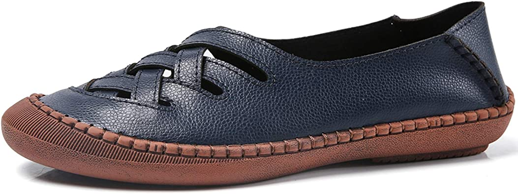 Mens Driving Moccasins Shoes Pumps Slip on Loafers Soft Flats Breathable Comfy L