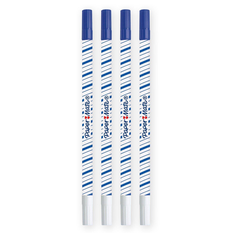 Paper Mate Magic Effaceur Pointe Fine Bleu Lot de 2