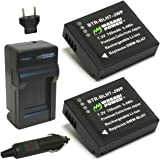 Wasabi Power Battery (2-Pack) and Charger for Panasonic DMW-BLH7, DMW-BLH7E, DMW-BLH7PP (Compatible with Panasonic Lumix DC-GX850, DMC-GM1, DMC-GF7, DMC-LX10)