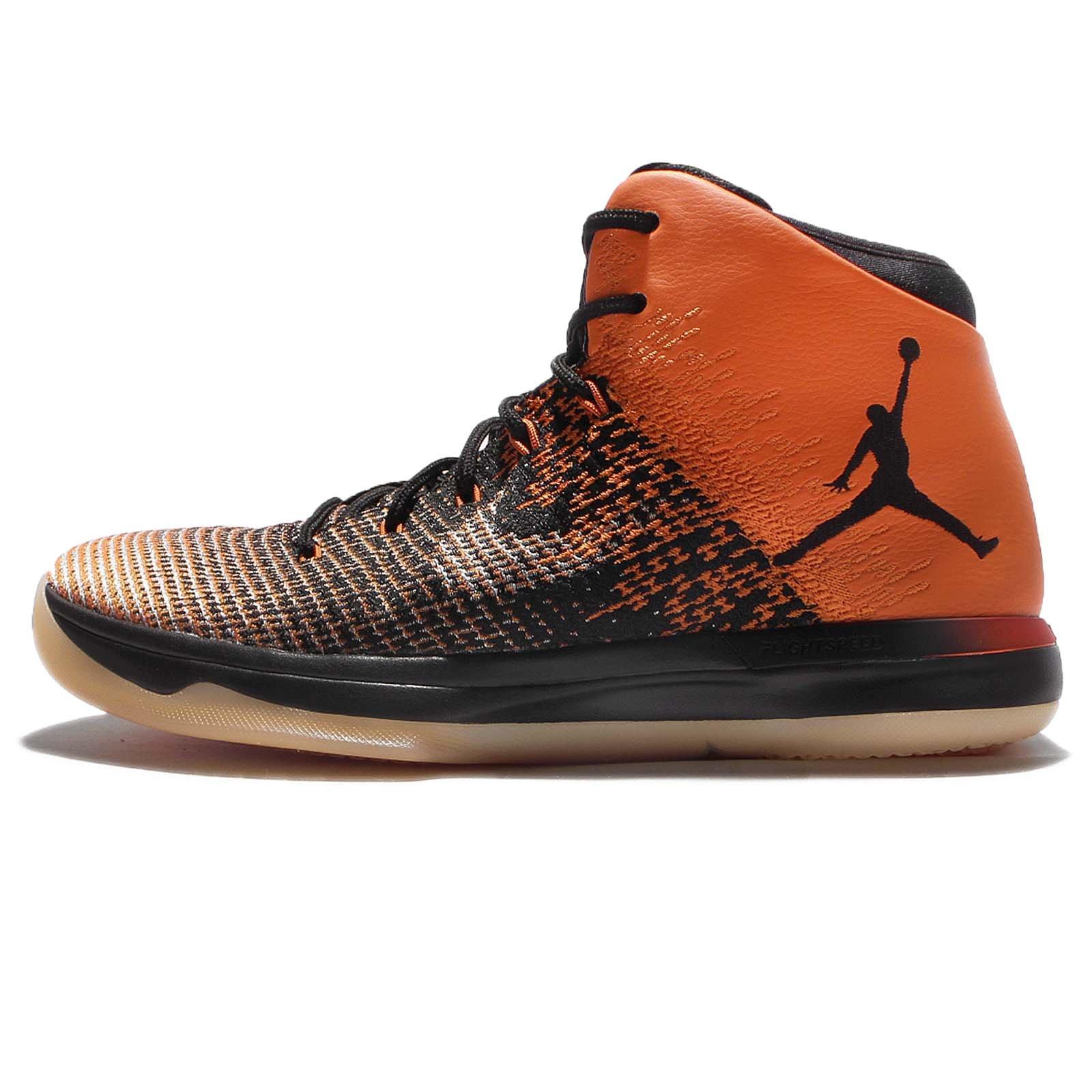 Nike Jordan Men's Air Jordan XXXI Basketball Shoe (9, Black/Black/Starfish)