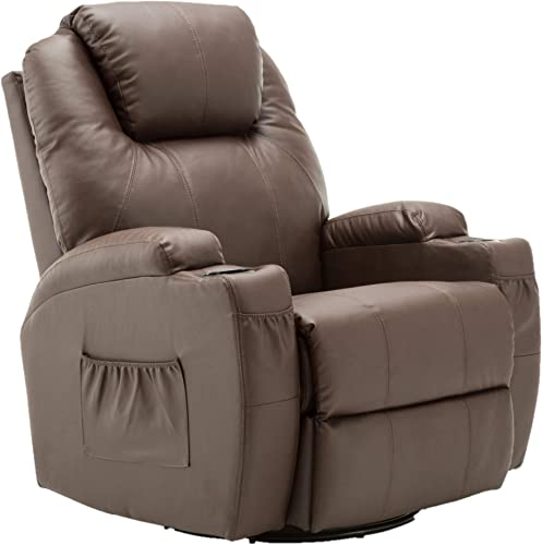 Mcombo Manual Swivel Glider Rocker Recliner Chair
