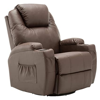 Amazing Modern Massage Recliner Chair Vibrating Sofa Heated Pu Leather Ergonomic Lounge 360 Degree Swivel Rocker 8031 Gmtry Best Dining Table And Chair Ideas Images Gmtryco