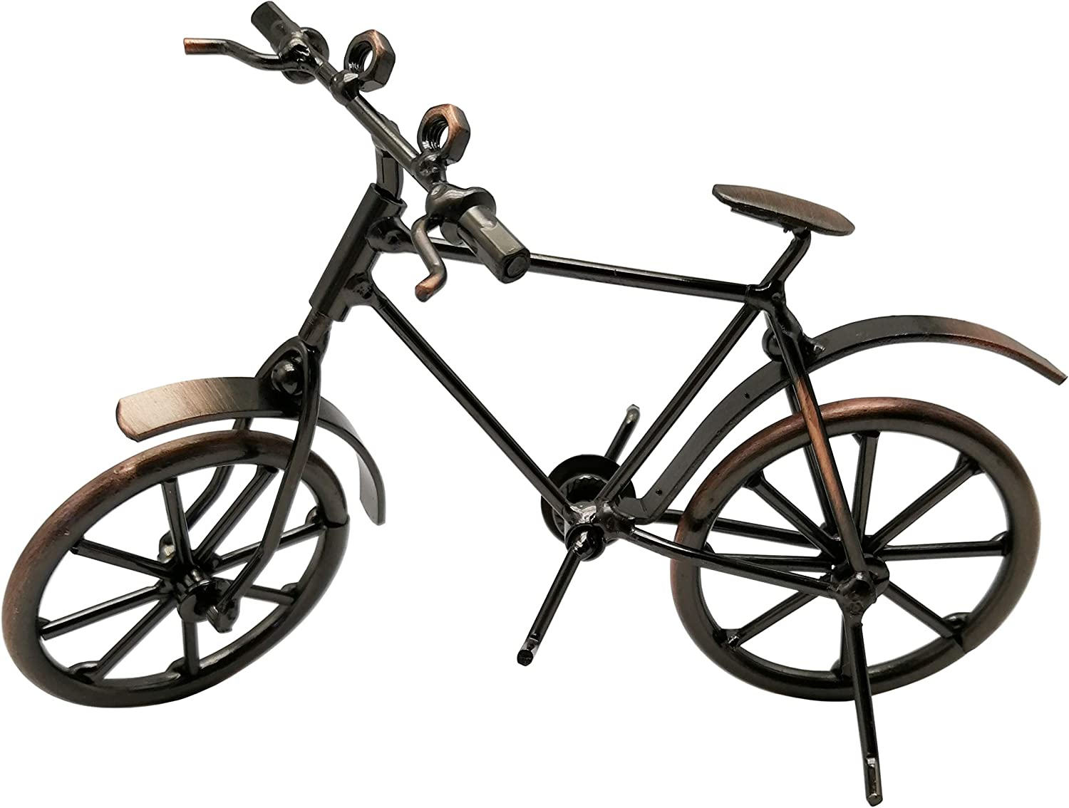 NYAIR Bicycle Decor Unique Metal Bicycle Home Office Bike Decoration Art Ornaments Handcrafted Metal Antique Vintage Bicycle Model