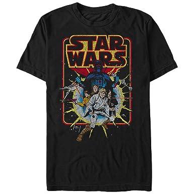 c003d212b Amazon.com: Star Wars Men's Old School Comic Graphic T-Shirt: Clothing