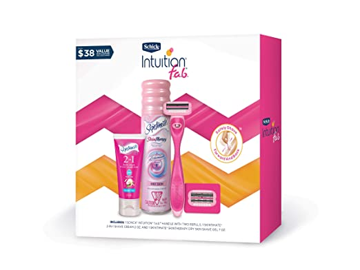 Schick Intuition F.a.b. Razors for Women Gift Set, Pack of 1