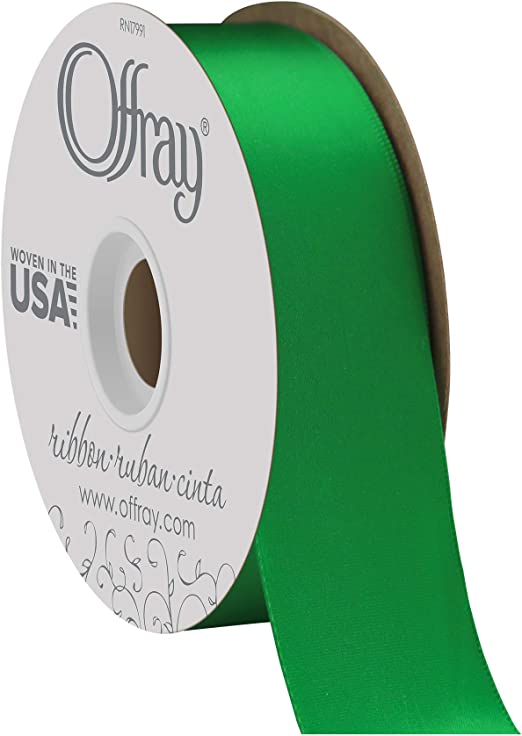 Double Face EMERALD GREEN 100/% Polyester Satin Ribbon Assorted Sizes