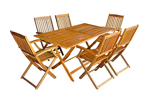 Mcombo 5tlg Jardín Balcón Juego de mesa de jardín mesa silla ...