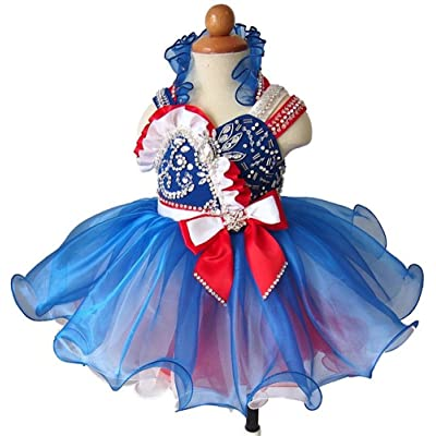 Zhoumei Baby Girls' Custom Straps Cupcake Gowns Kids Pageant Dresses