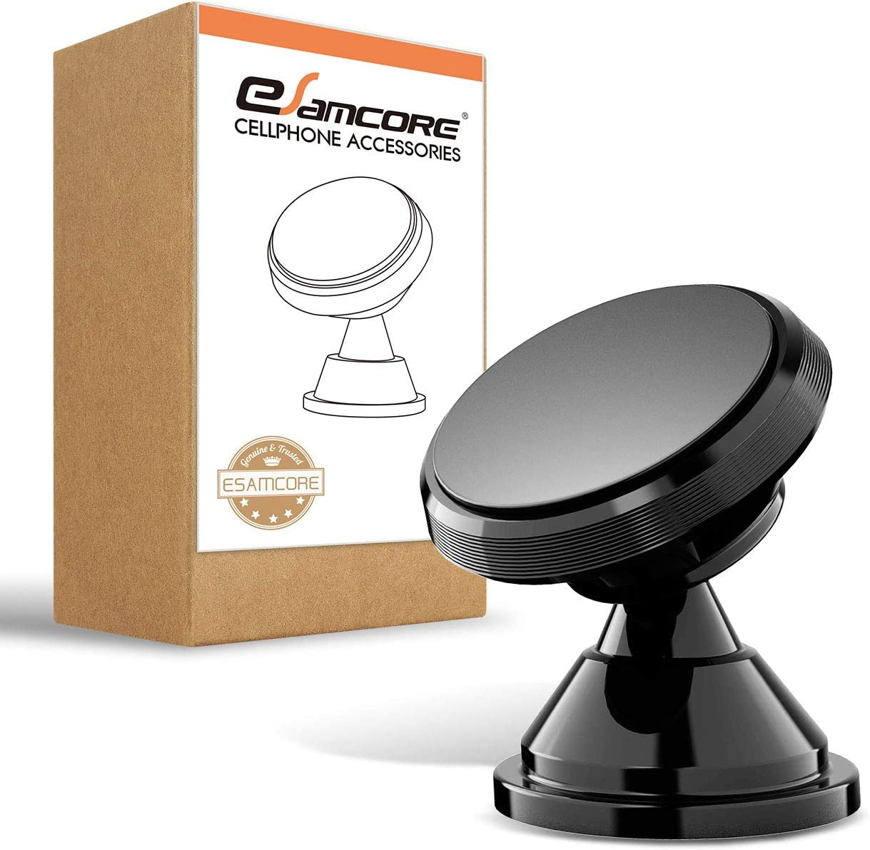 Magnetic Phone Car Mount Fits All iPhone Samsung Galaxy Smartphone 2 Pack eSamcore Powerful Magnets Car Mount Holder for Dashboard with Strong Adhesive