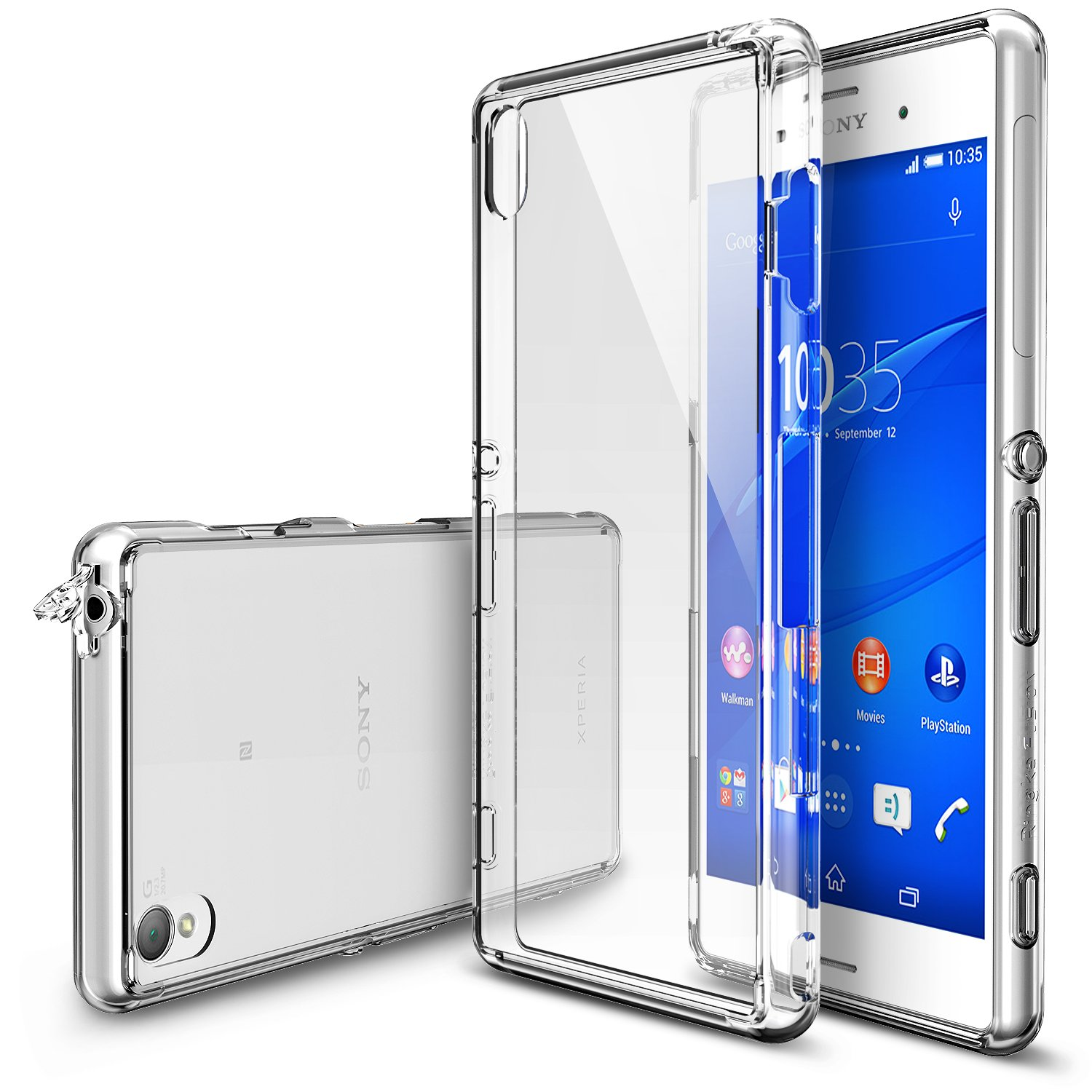 super popular 49a51 6eeeb Ringke Fusion Compatible with Sony Xperia Z3 Case [Free HD Film, Dust &  Drop Protection][Clear] Shock Absorption Bumper Premium Hard Case (Not for  ...