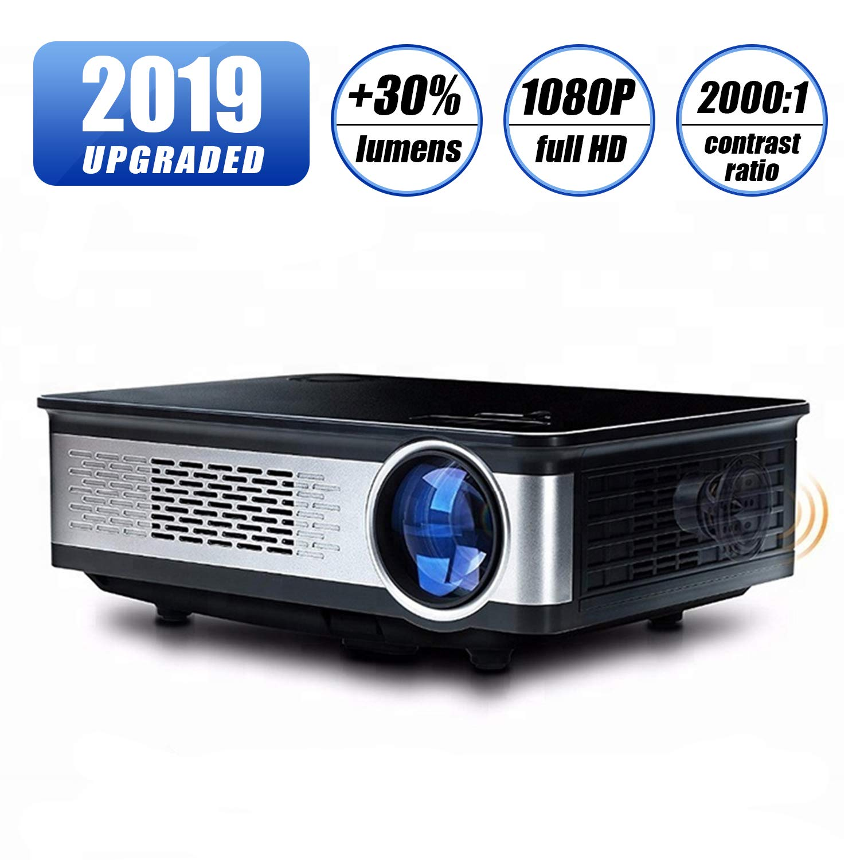 Topfoison ネイティブ1080p フルHD ホームシアター ビデオ LED プロジェクター - 大画面 最大150インチサイズ テレビボックス Fire TV ROKU Stick SD PS4 ノートパソコン DVD 家庭用 映画 BIG B07HRRTJ3G  BIG