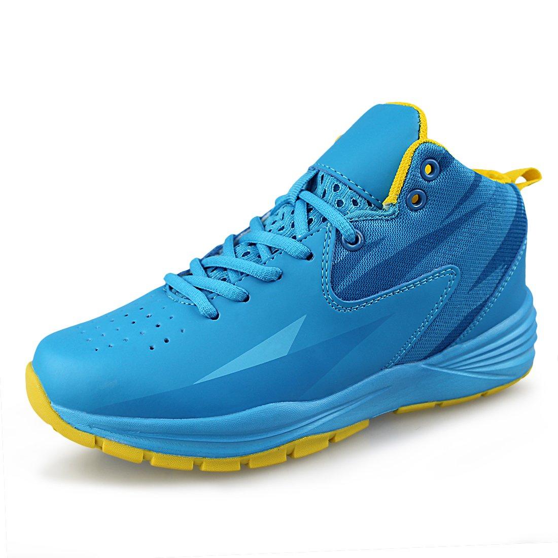 Hawkwell Kids Casual Outdoor Basketball Shoes(Little Kid/Big Kid),Blue PU,1 M US