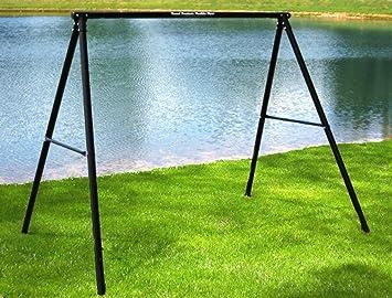 flexible flyer lawn swing frame swing not included black