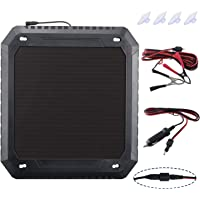 Paladin Solar Car Battery Charger,12V 5W Battery Trickle Charger Maintainer,Wheather-Resistant Solar Panel Power Charger,Portable Backup for Automotive, Motorcycle, Boat, Marine, RV, Trailer