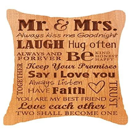 Amazon com: Retro Wooden Love gift couple Mr Mrs kiss