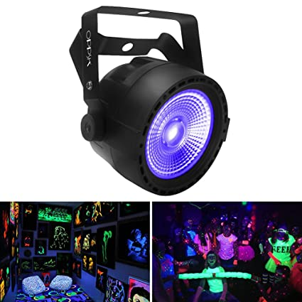 oppsk black lights with 30w cob uv led by rf remote and dmx control for christmas