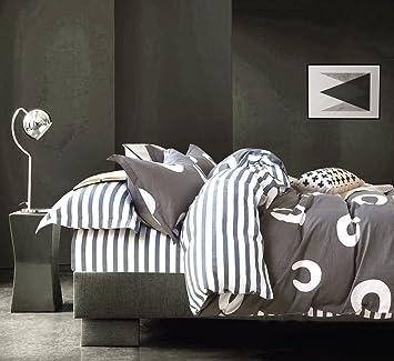 Minimal Style Geometric Shapes Duvet Quilt Cover Modern Scandinavian Design  Bedding Set 100 Percent Cotton Part 78