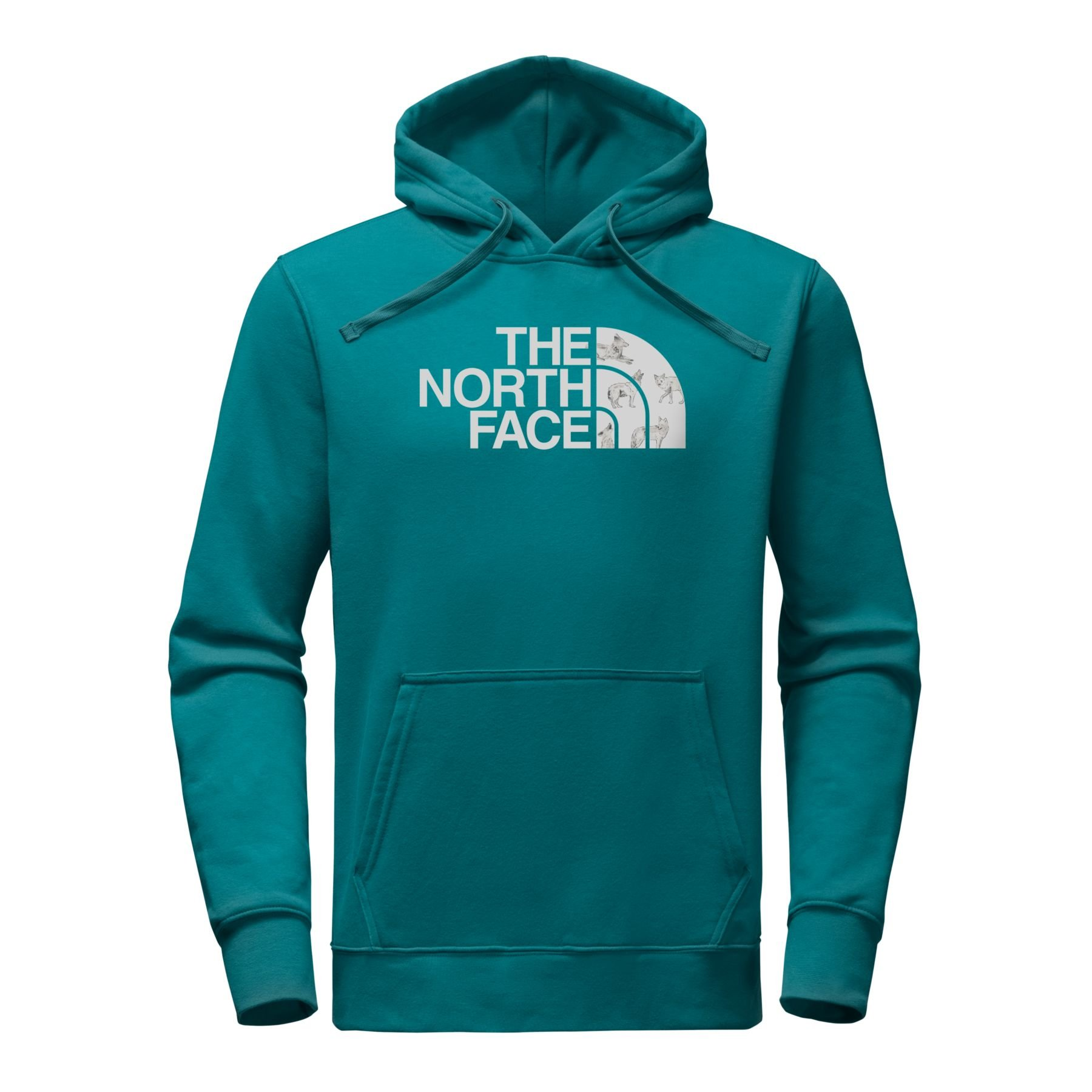 The North Face Men's Half Dome Hoodie - Blue Coral & High Rise Grey Coyotes Print - L