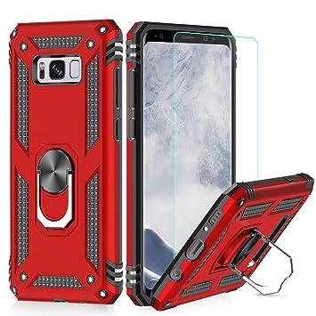 LeYi Funda Samsung Galaxy S8 Plus Armor Carcasa con 360 Anillo iman Soporte Hard PC y Silicona TPU Bumper antigolpes Fundas Carcasas Case para movil ...